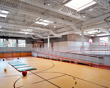 Skylit handicapped  accessible gymnasium