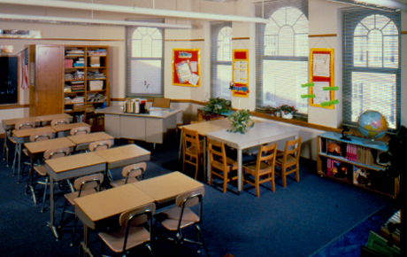 west middle school classroom image